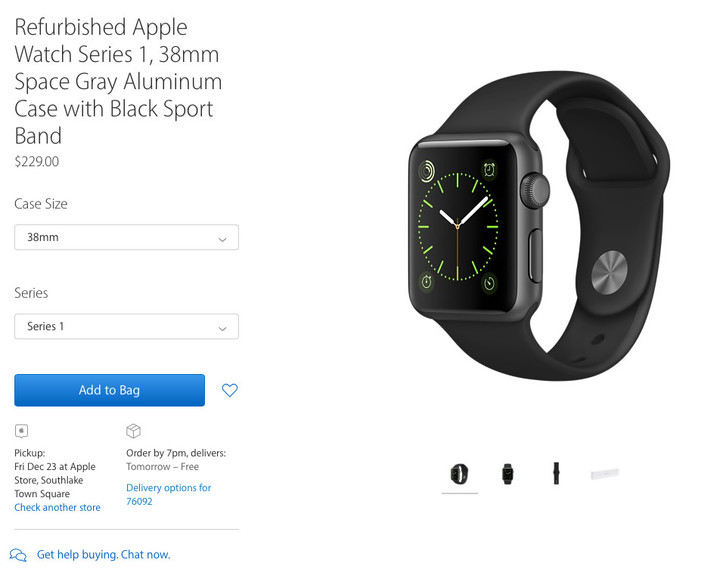 Apple starts selling refurbished Watches online